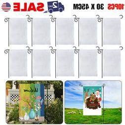 10Pcs 30x45cm Sublimation Blank Polyester Lawn Garden Flags