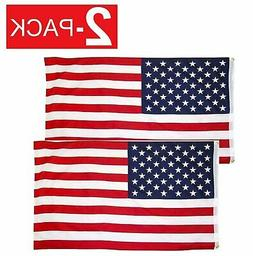 2x3 American Flag w/ Grommets USA United States of America U