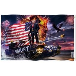 Anley 3x5 Feet 2020 President Trump on Tank Flag Trump Won E