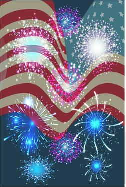 4th July Independence Day Garden Flag Banner 12x18 2-Sided H