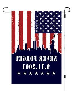 9 11 Patriots Day Never Forget Garden Banner Flag 11x14-12x1