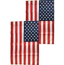 12x18 American Garden Flag ~ 2 Pack ~ USA United States of A