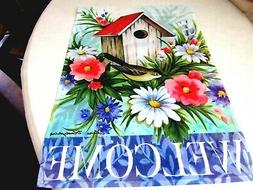 """Birdhouse Welcome Garden Flag Size: 18"""" H x 12.5"""" W Great fo"""
