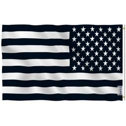 Anley Fly Breeze 3x5 Foot Black and White American Flag Rece