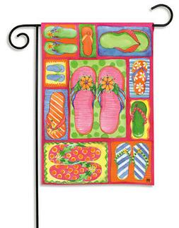 breeze art flip flops garden mini flag