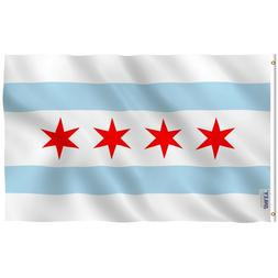 ANLEY City of Chicago Flag Chicago Illinois IL Banner 3x5 Fo