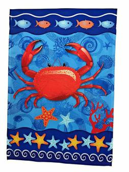 """Crab Garden Flag, Double Sided, 12"""" x 18"""""""