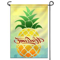 Anley Double Sided Cartoon Pineapple Welcome Spring Summer G