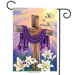 Easter Cross Garden Flag Religious He Is Risen Briarwood Lan