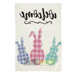 Easter Garden Flag Outdoor Happy Easter 12.5x18  2-Sided Hea