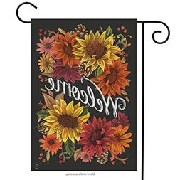 Fall Flowers Welcome Garden Flag Autumn Sunflowers Briarwood