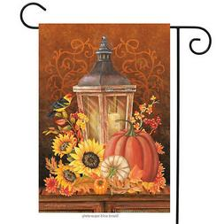 Fall Lantern Primitive Garden Flag Pumpkins Sunflower 12.5""