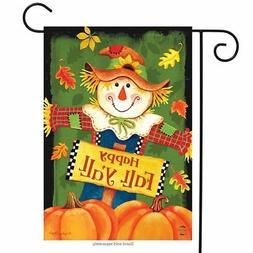 Fall Y'all Scarecrow Primitive Garden Flag Autumn Leaves 12.