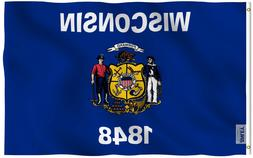 Anley Fly Breeze 3x5 Foot Wisconsin State Flag, Wisconsin WI