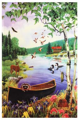 "Forest River Animal Friends Garden Flag 12""X18"" Spring~summe"