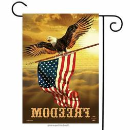 "Freedom Patriotic Garden Flag Bald Eagle USA 12.5"" x 18"" Bri"