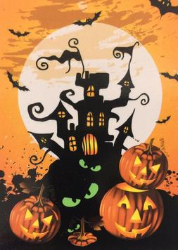 "Halloween Haunted House Garden Flag 12"" X 18"" Halloween Deco"