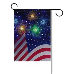 Naanle Independence Day 4th of July Long Polyester Garden Fl