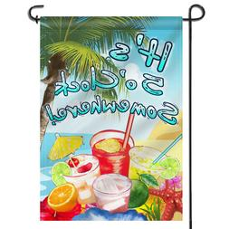 ANLEY It's 5 o'Clock Somewhere Garden Flag Double Sided Doub