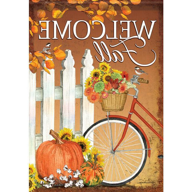 49370 garden flag welcome fall fall bicycle