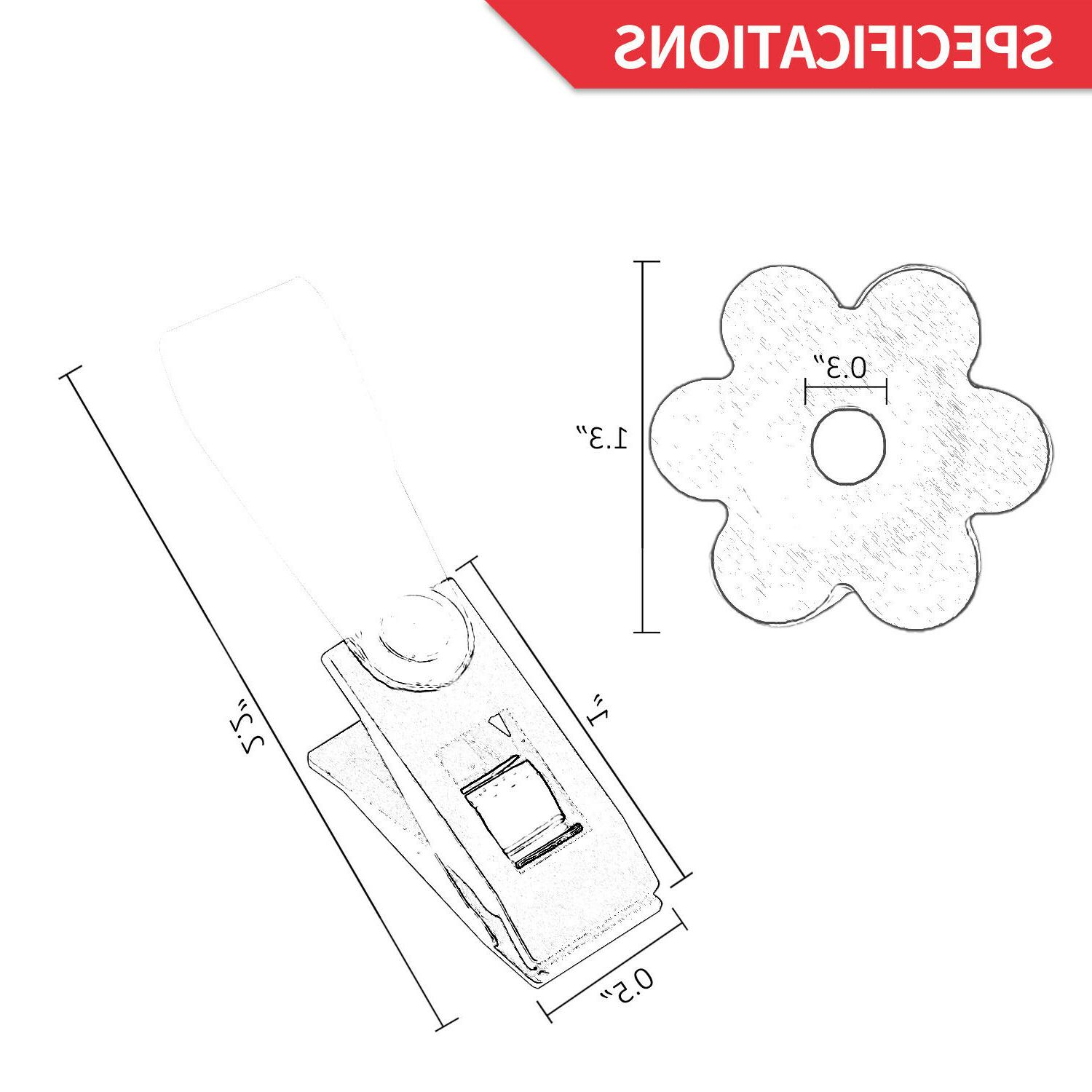 Anley Garden Flag Rubber Stoppers and Anti-Wind Clips