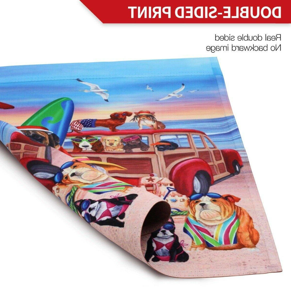 ANLEY Beach Flag Double Double Stitched 12.5 x 18 Inch