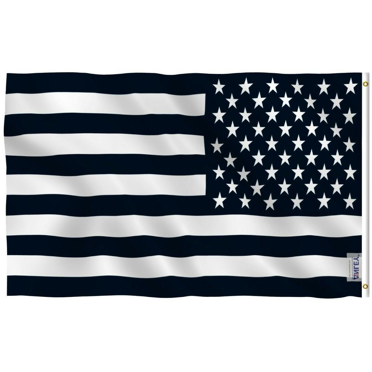 black and white american flag recession banner