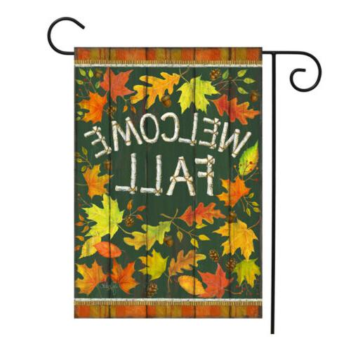 Double Sided Garden Flag Welcome