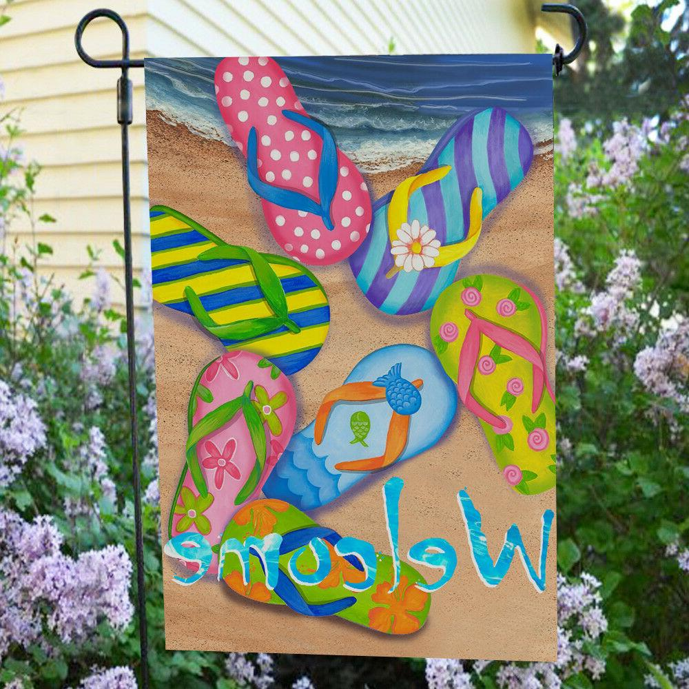 Anley Garden Flag,Summer Beach Welcome- 18 x Inch