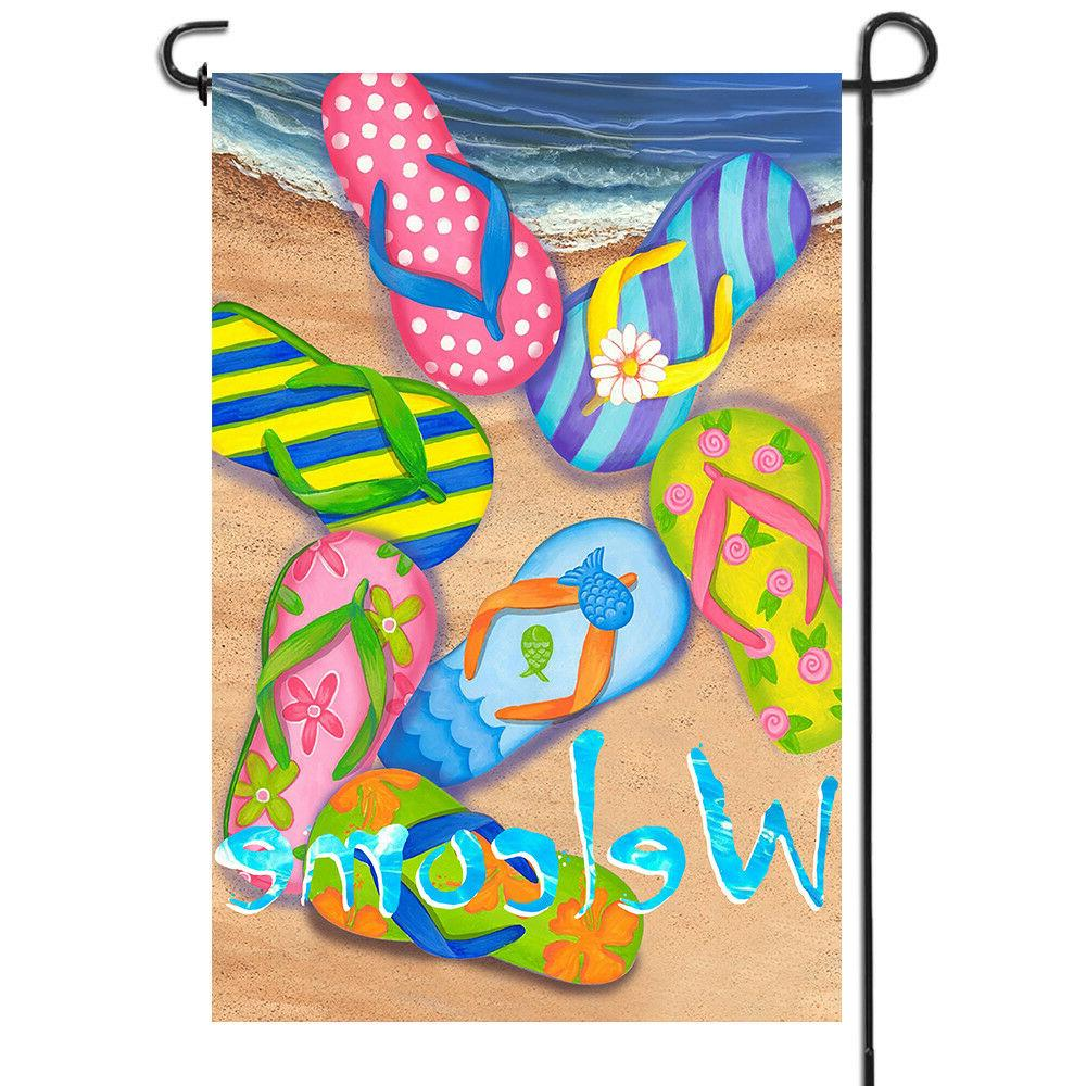 double sided premium garden flag summer beach