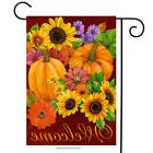 Fall Glory Floral Garden Flag Pumpkins Sunflowers Autumn 12.