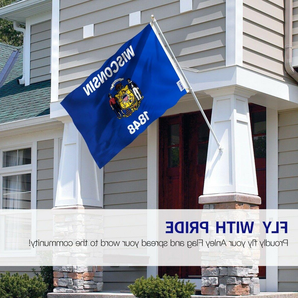Anley Fly Foot Wisconsin WI Flags