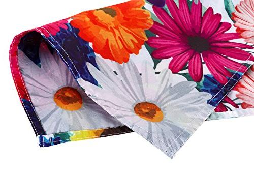 Juvale Happy Floral Flag Everyday Outdoor Lawn Decoration, Flowers Sided 18.5 inches