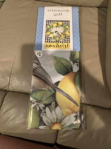 new welcome chickadee decorative house garden flag
