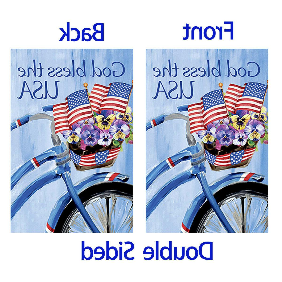 Morigins Patriotic Floral Bicycle Double God Bless The