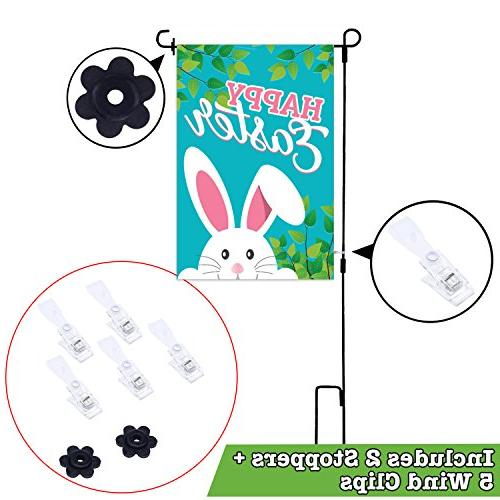 Fat 20 Pack Assortment 12-inch 18-inch | Includes Pole, Clips Stopper | Double-Sided, Polyester, Durable