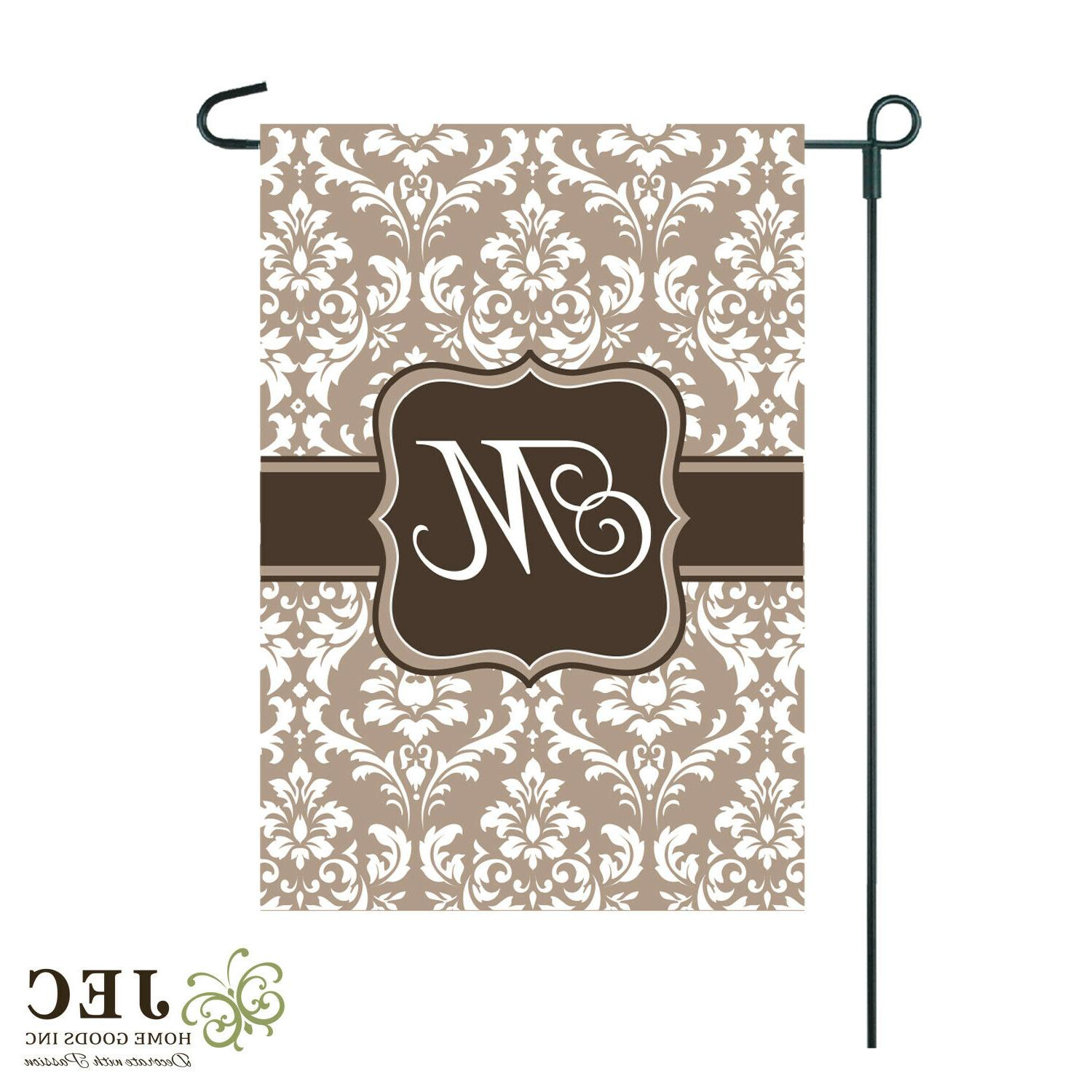 Cream Damask Two-Sided M R S T W