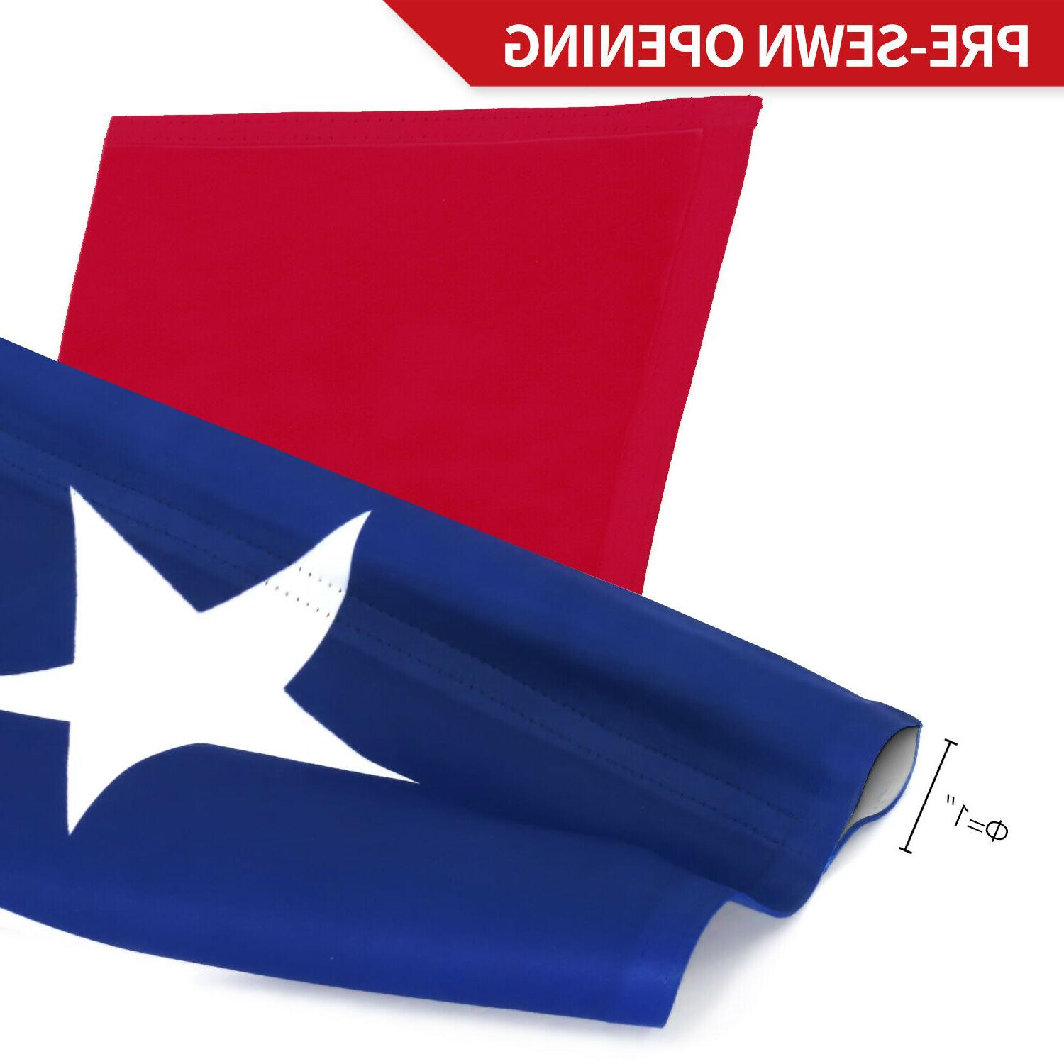 Anley Texas State Garden Flag Sided Inch