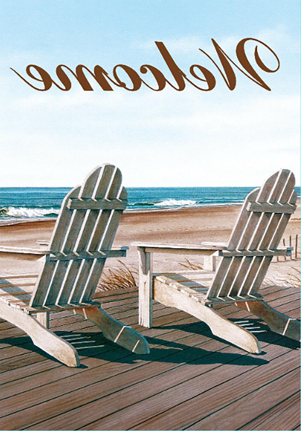 welcome double sided summer beach chairs garden