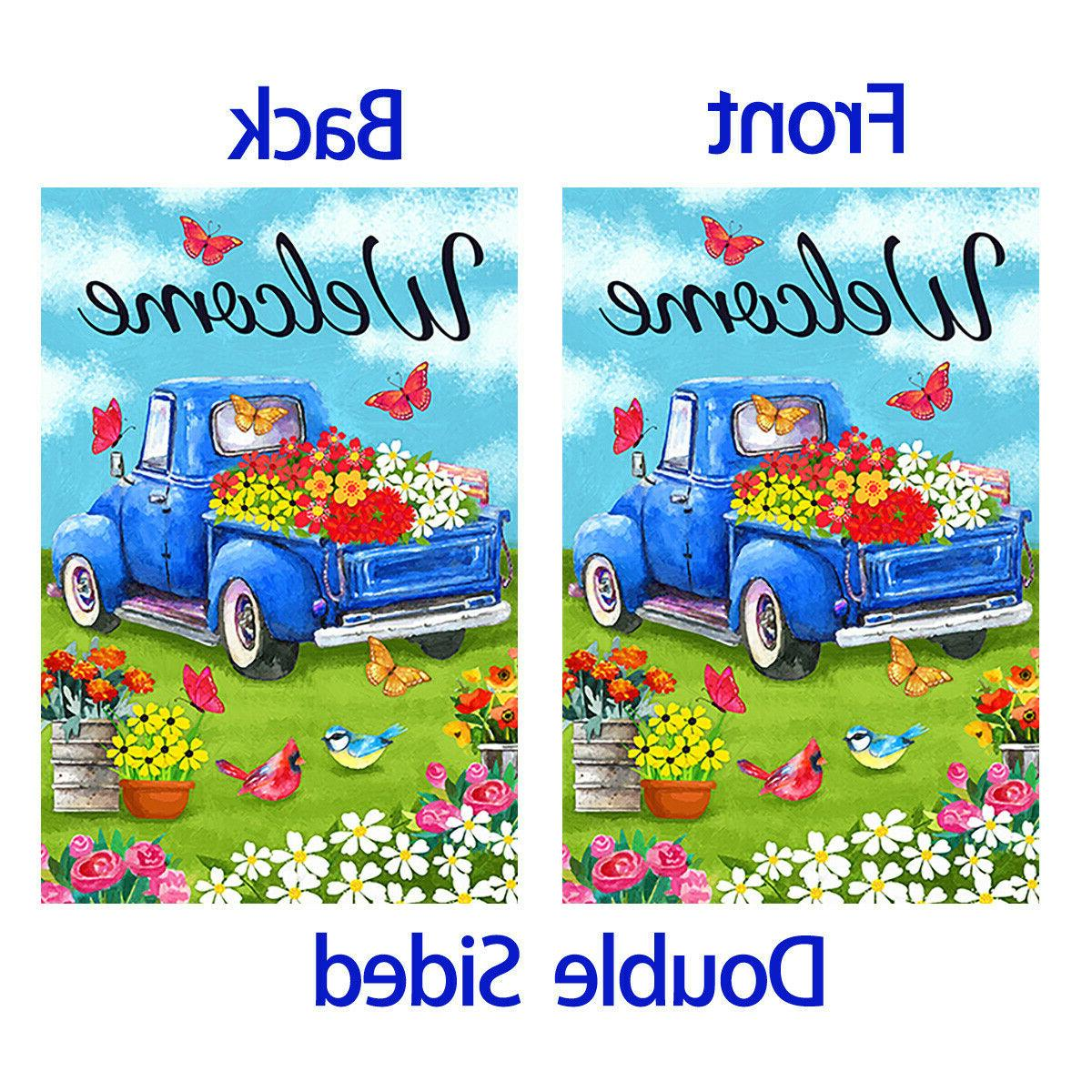 Morigins Welcome Old Blue Truck Double Sided