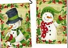 WINTERBERRIES DOUBLE SIDED SUEDE GARDEN  MINI FLAG free ship
