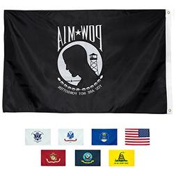 Front Line Flags POW-MIA Flag 3x5 | Long Lasting Nylon Embro