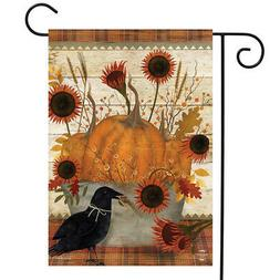 Primitive Pumpkins Autumn Garden Flag Sunflowers Fall 12.5""