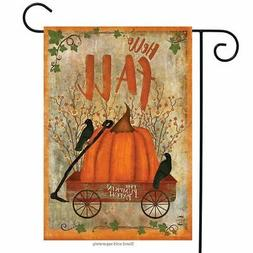 "Prized Pumpkin Fall Garden Flag Primitive Autumn 12.5"" x 18"""