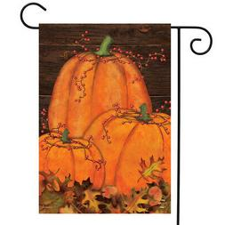 Rustic Pumpkin Patch Fall Garden Flag Autumn Primitive 12.5""