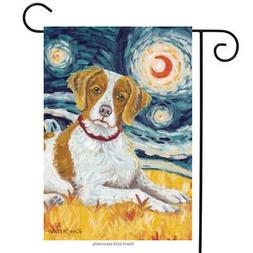 Van Growl Brittany Garden Flag Animals Toland Decorative Pet