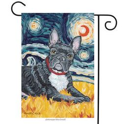 Van Growl French Bulldog Garden Flag Animals Toland Decorati