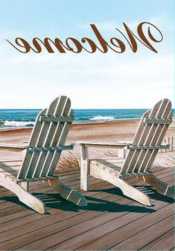 Morigins - Welcome Double Sided Summer Beach Chairs Garden F